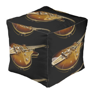 Guitar  Polyester Cubed Pouf (Large)