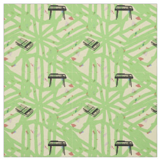 Guitar Radio Pattern Choose Background Colour F Fabric