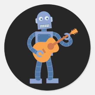 Guitar Robot Classic Round Sticker