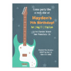 Guitar Rock Star Boys Birthday Party Invitations