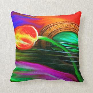 Guitar Rose Print Pillow-Original Artwork Novelty Throw Pillow