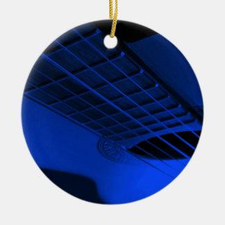 Guitar. Round Ceramic Ornament