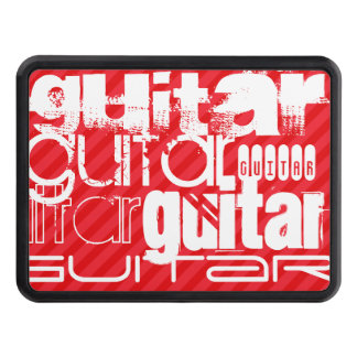 Guitar; Scarlet Red Stripes Tow Hitch Covers