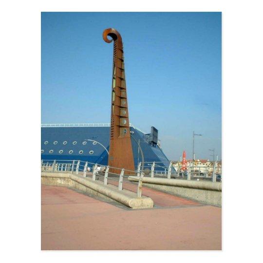 Guitar sculpture, Blackpool Postcard
