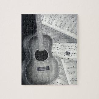 Guitar & Sheet Music Puzzle
