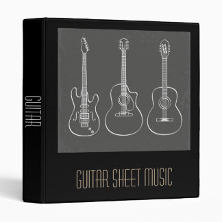 Guitar Sheet Music student folder portfolio Binders