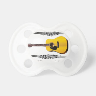 guitar showcased baby pacifier