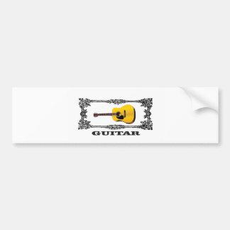 guitar showcased bumper sticker