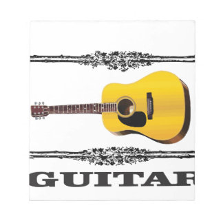 guitar showcased notepads