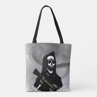 Guitar Skeleton Serenade Misty Eve Tote Bag