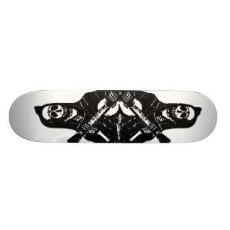Guitar Skeleton Skate Board