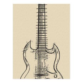 Guitar Sketch Postcard