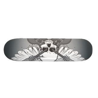 Guitar skull custom skateboard