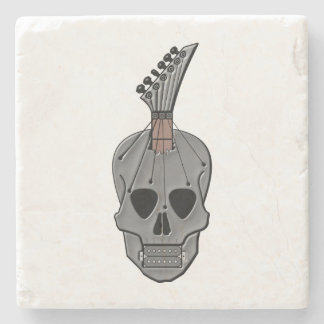Guitar Skull Music Stone Coaster