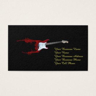 Guitar Splash Business Card