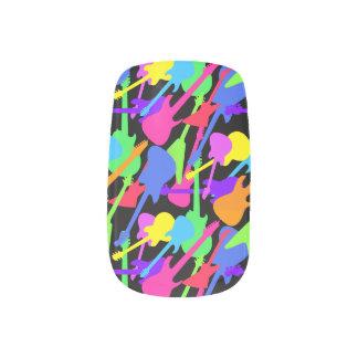 Guitar Splash Pattern Minx Nail Art