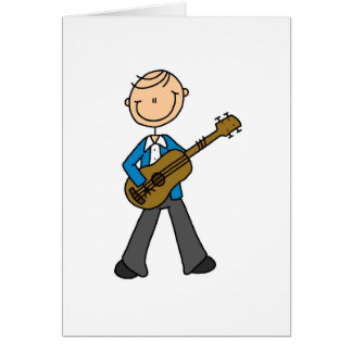 Guitar Stick Figure Card