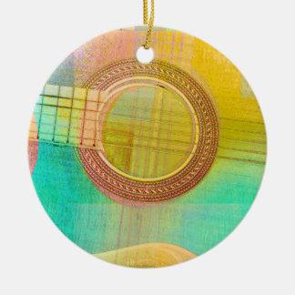 Guitar Study One 2016 Round Ceramic Ornament