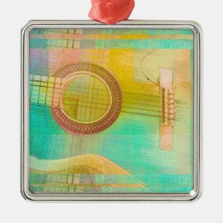 Guitar Study One 2016 Silver-Colored Square Ornament