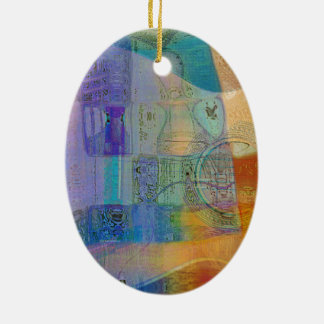 Guitar Study Three 2016 Ceramic Oval Ornament