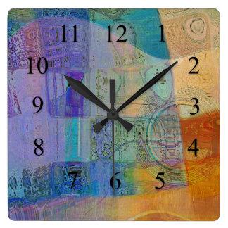 Guitar Study Three 2016 Square Wall Clock