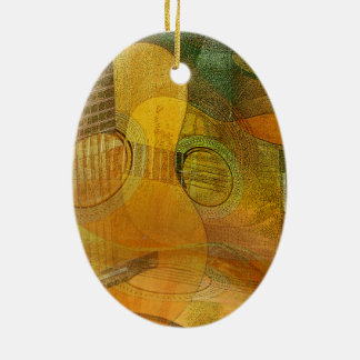 Guitar Study Two 2016 Ceramic Oval Ornament