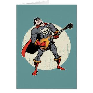 Guitar Superhero Greeting Card