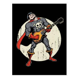Guitar Superhero Postcard