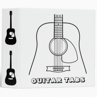 Guitar Tabs Music 3 Ring Binder