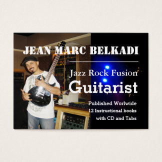 Guitar Teacher Jean Marc Belkadi Business Card