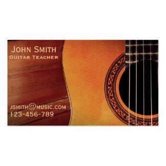 Guitar Teacher music tutor freelance Business Card