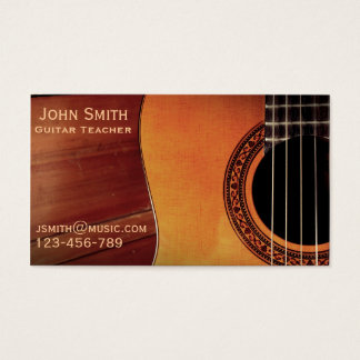 Guitar Teacher music tutor freelance Business Card
