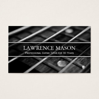 Guitar Tutor Photo of Strings - Business Card