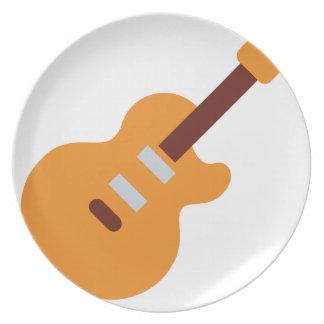 Guitar - Twitter Emoji Party Plate