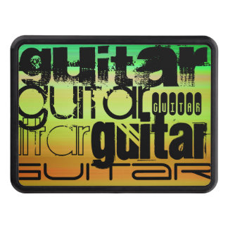 Guitar; Vibrant Green, Orange, & Yellow Hitch Covers