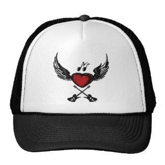 Guitar Winged Heart Hat