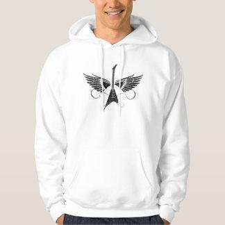 Guitar wings hoodie