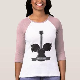 Guitar Wings Ladies Raglan T-shirts
