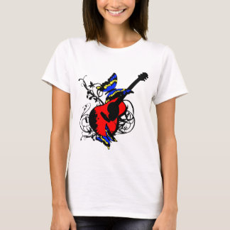 Guitar with butterflies T-Shirt
