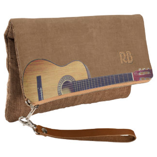 Guitar with (or without) your Initial(s) Clutch