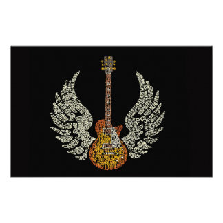 Guitar with wings customized stationery