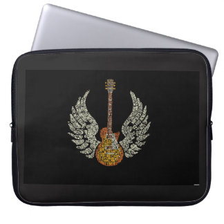 Guitar with wings laptop sleeve