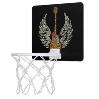 Guitar with wings mini basketball hoop