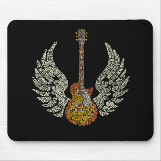 Guitar with wings mouse pad