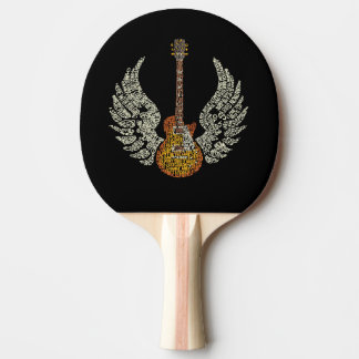Guitar with wings ping pong paddle