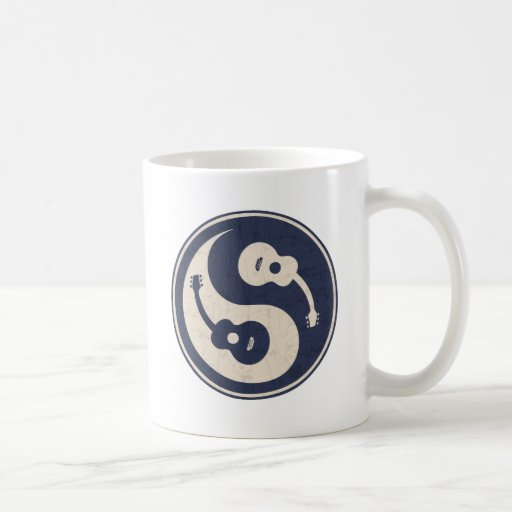 Guitar Yang -blue Classic White Coffee Mug