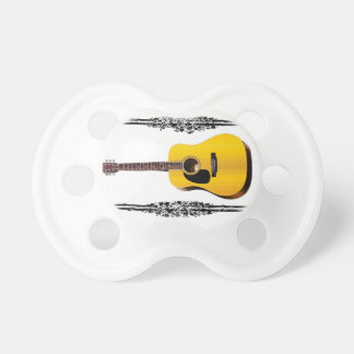 guitar yellow and tan pacifier