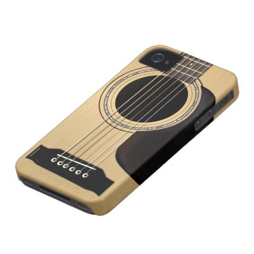 Guitare acoustique coques iPhone 4 Case-Mate