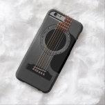 Guitare acoustique noire de cendre coque iPhone 6 barely there