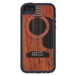 Guitare acoustique supérieure d'acajou coques iPhone 5 Case-Mate
